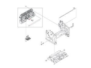 HP RL1-1497-000CN D-Shaped Pick-Up Roller - Located On The Paper Pick-Up Assembly