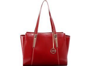 McKlein 97506 Aldora Leather Shoulder Tote, Red