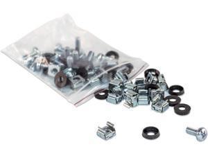 Intellinet Network Solutions M6 Cage Nut Set for Server, Rack or Cabinet, Includes Cage Nuts, Screws and Plastic