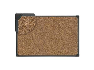 Innovera SF152209368 Tech Cork Board, 36 X 24, Cork, Black Plastic Frame