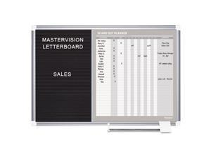 MasterVision GA0387830 In-Out And Notice Board, 36X24, Silver Frame
