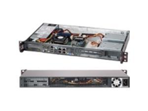 BLACK 1U MINI SC505 CHASSIS W/