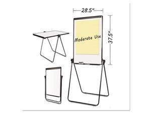 MasterVision EA14000583MV Folds-To-A-Table Melamine Easel, 28 1/2 X 37 1/2, White, Steel/Laminate