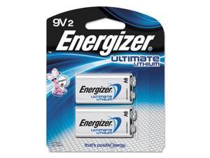 Energizer L522BP-2 Lithium Batteries, 9V, 2/Pack