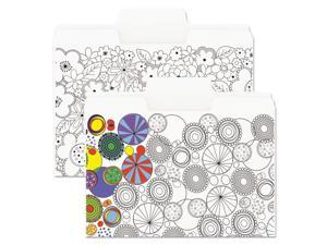 """Smead SuperTab Coloring File Folders 1/3 Cut 3/4"""" Expansion Letter White 6/Pack"""