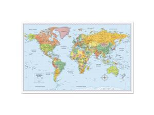 Rand McNally RM528012754 M-Series Full-Color World Map, 50 X 32