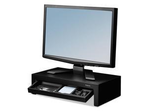 Fellowes FEL8038101 Adjustable Monitor Riser With Storage Tray, 16 X 9 3/8 X 6, Black Pearl