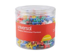 "Universal Colored Push Pins, Plastic, Asstd., 3/8"", 400/Pack"