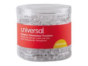 """Universal Clear Push Pins, Plastic, 3/8"""", 400/Pack"""
