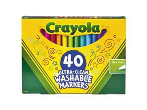 Ultra-Clean Washable Markers, Fine Bullet Tip, Assorted Colors, 40/Set 587861