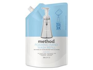 Method MTH00662 Foaming Hand Wash Refill, Sweet Water, 28 Oz Pouch, 6/Carton