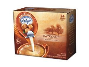 International Delight 100680 Coffee Creamer, Hazelnut, .44 oz Liquid, 24/Box