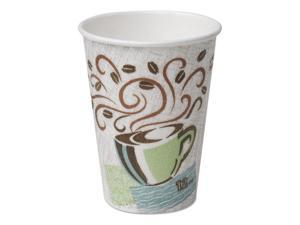 Dixie Hot Cups Paper 10oz Coffee Dreams Design 1000/Carton 92959
