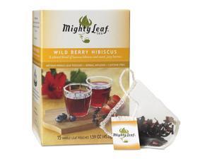 Whole Leaf Tea Pouches, Wild Berry Hibiscus, 15/Box 510144