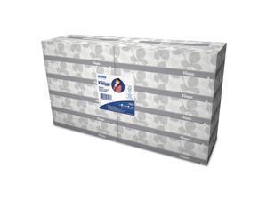 Kleenex KCC13216 White Facial Tissue, 2-Ply, White, 100/Box, 10 Bx/Bundle, 6 Bundles/Carton