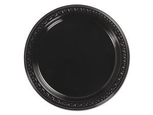 Chinet 81407 Heavyweight Plastic Plates, 7 Inch Diameter, Black, 125/Pack, 8 Packs/Ct