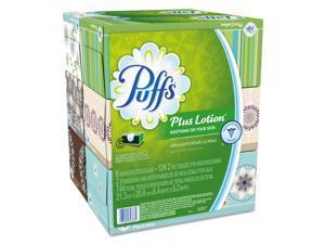 Puffs PGC39383 Plus Lotion Facial Tissue, White, 2-Ply, 8 1/5X8 2/5, 124/Box, 6Bx/Pk, 4Pk/Ctn