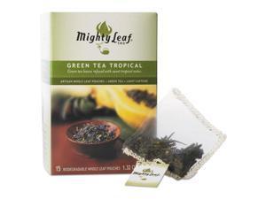 Whole Leaf Tea Pouches, Green Tea Tropical, 15/Box 510138