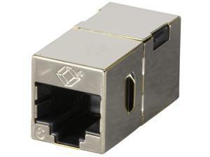 Black Box FM608-10PAK Cat6 Coupler Shielded Straight- Pin Office Silver 10-Pack