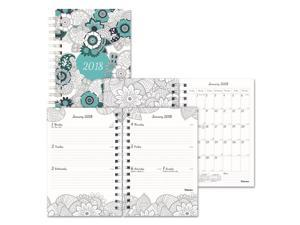Blueline C291001 Doodleplan Weekly/Monthly Planner, 8 X 5, Botanica