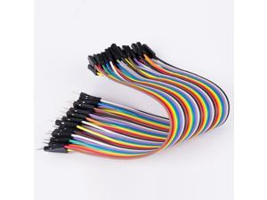 40pcs 20cm 2.54mm Male to Female Dupont Wire Jumper Cable for Breadboard Best