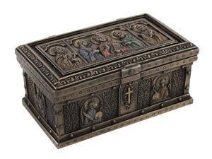 Bronzed Catholic Saints Altar Trinket Box