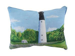 Betsy Drake Huntington Island In/Outdoor Decorative Throw Pillow 16in.X20in.