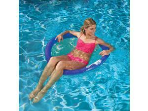 SwimWays 6047195 Water Chair Styled Spring Swimming Pool Float Papasan, Blue