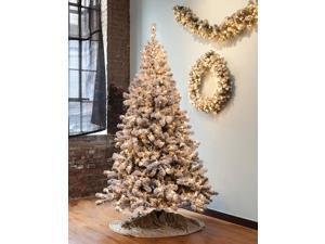 65 pre lit snowy pine flocked medium artificial christmas tree clear lights