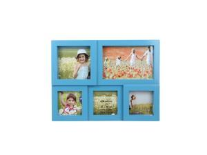 "11.5"" Blue Multi-Sized Puzzled Photo Picture Frame Collage Wall Decoration"