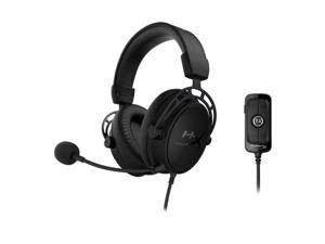 HyperX Cloud Alpha S - PC Gaming Headset, 7.1 Surround Sound, Adjustable Bass, Dual Chamber Drivers, Breathable Leatherette, Memory Foam, and Noise Cancelling Microphone - Blackout (HX-HSCAS-BK/WW)