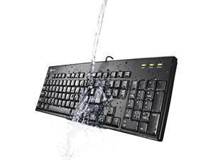 I-Rocks Washable Keyboard, Black (IRK32W-BK)
