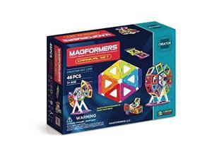 63074 Magformers Creator Carnival Set (46-pieces) Deluxe Building Set. Magnetic Building Blocks, Educational Magnetic Tiles, Magnetic Building STEM Toy Set