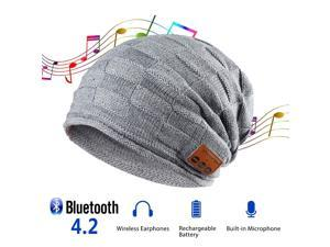 0df2d9c19b0 Bluetooth Beanie Hat Hands Free Knit Slouchy Beanie with Bluetooth  Earphones Built-in Microphone Speaker