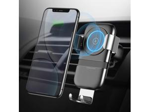 iPhone X 8//7 Plus and More Pilot Wireless Car Charging Phone Holder Q1 /•10W/• Fast Wireless Charging Car Mount Compatible with Any Phone 2.5 to 3.5 Wide Including Samsung Galaxy S9 Plus S8 S7//S6
