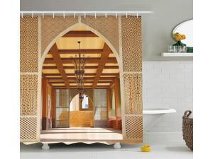 325d1b305c Ambesonne Arabian Decor Collection, Traditional Arabian Architecture in Doha  Qatar Middle East Oriental Landmark Hotel