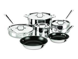 96b157a121a4 All-Clad 401488 NSR2-R Stainless Steel Tri-Ply Bonded PFOA Free Nonstick