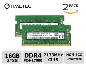 A-Tech 16GB Replacement for HP T7B78AA DDR4 2133 MHz SODIMM PC4-17000 2Rx8 1.2V 260-Pin Non-ECC Unbuffered Laptop /& Notebook RAM Memory Module