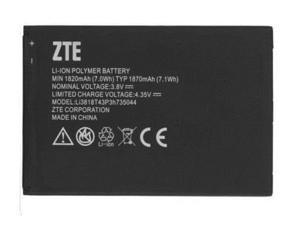 ZTE Z830 OEM Li-ion Polymer Phone Battery 3.8V Typ 1870mAh 7.1Wh Li3818T43P3h735044