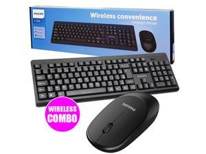 Philips 2.4GHz Wireless Ergonomic and Stylish Design Keyboard & Mouse Combo