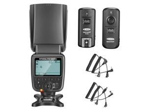 Neewer® NW-561 LCD Screen Flash Speedlite Kit for Canon Nikon and Other DSLR Cameras,include:(1)NW-561 Flash+(1)2.4Ghz Wireless Trigger(1 * Transmitter+ 1 * Receiver)