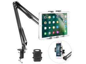 Neewer® Universal Smartphone & Tablet Stand (Sturdy Metal Arm, Padded Holder, Adjustable Mounting Clamp) for  iPhone11/11 Pro/11 Pro Max Samsung Galaxy S10+10--Black