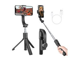 Neewer 1-Axis Handheld Gimbal Stabilizer with Built-in Wireless Remote Compatible with iPhone 12/11 Pro Max/X/XR, Galaxy S20+/S20, Huawei P40 Pro, Auto Balance, Anti-shake, Pan-tilt Tripod
