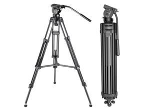 """Neewer® 61""""/155cm Aluminum Alloy Tripod with 360 Degree Ball Head,1/4"""" 3/8""""Quick Release Plate,and Bubble Level Including Carrying Bag for DSLR Camera,Video Camcorder,Load Capacity 17.6lbs/8kg"""