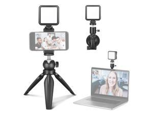Neewer key Light Video Conference Lighting Kit, Zoom Lighting for Computer with Suction Cup, Mini Tripod Stand and Phone Holder for Remote Working/Zoom Calls/Self Broadcasting/Live Streaming/Game