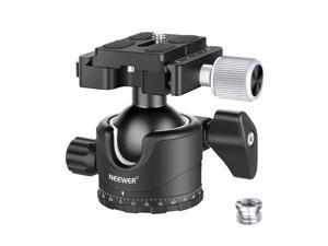 Neewer Professional 35MM Low-Profile Ball Head 360 Degree Rotatable Tripod Head with 1/4 inch QR Plate Bubble Level for DSLR Cameras Tripods Monopods, Max Load 26lbs/12kg