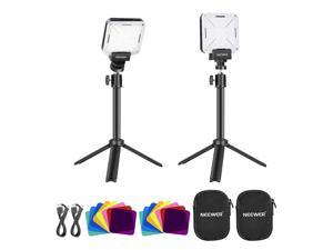 Neewer 2-Pack Key Light LED Video Light with Extendable Tripod Stand, Video Conference Lighting for Self Broadcasting/Live Streaming/Remote Working/Zoom Calls/Game/Online Meeting/Photography/YouTube