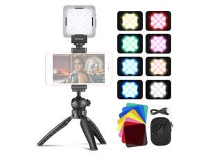 Neewer 12 SMD LED Bulb Key Light Mini Pocket-Size On-Camera LED Video Light, CRI 95+ with Mini Tripod for Zoom Call Meeting/Remote Working/Self Broadcasting/YouTube Video/Live Streaming/Game