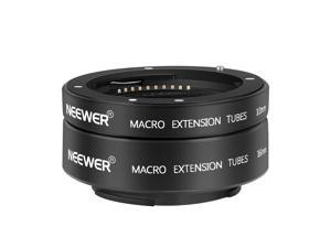Neewer AF Auto Focus Macro Extension Tube Set 10mm 16mm Compatible with Sony E-Mount Lenses and A1 A7C A7SIII A6600 A6100 A9 II A6400 A7III NEX5T NEX3N NEX6, load up to 500g