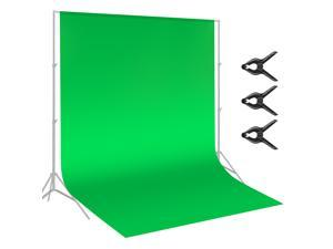 Neewer 9 x 15 feet/2.7 x 4.6 meters Green Chromakey Muslin Backdrop Background Screen with 3 Clamps for Photo Video Studio Photography